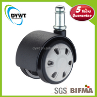 new high quality fixed wheel 50mm grey rubber caster