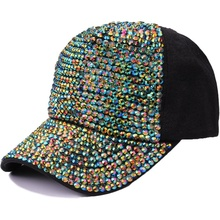 DIY Bling Fashion Rhinestone Caps Tovenaar Hoeden voor Dames
