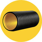 black 3 inch 6 inch corrugated drain land field drainage plastic sewer pipe