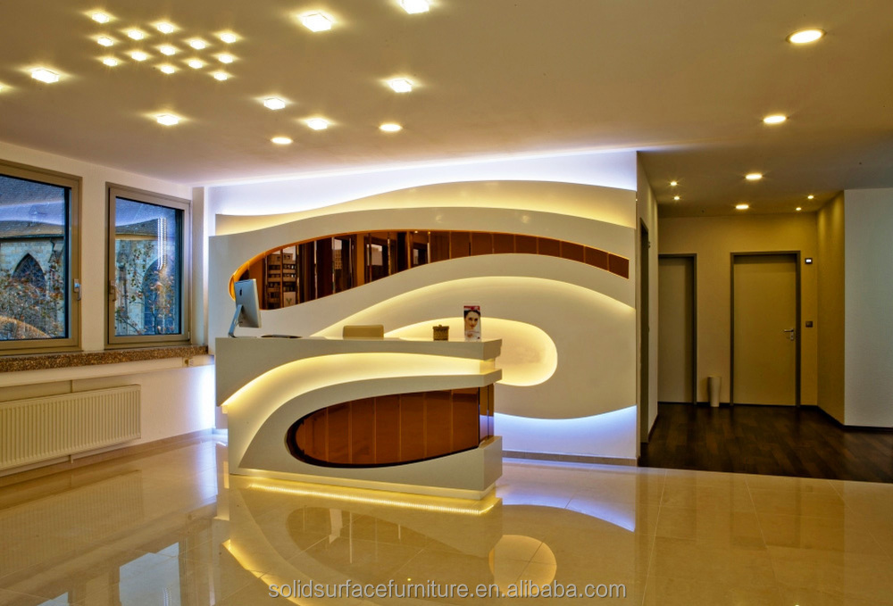 cultured marble reception counter design hotel reception counter - Hotel Reception Desk Design