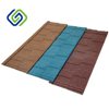1340X420X0.35mm Colorful Stone Coated Metal Roof Tiles Bond Tile Types