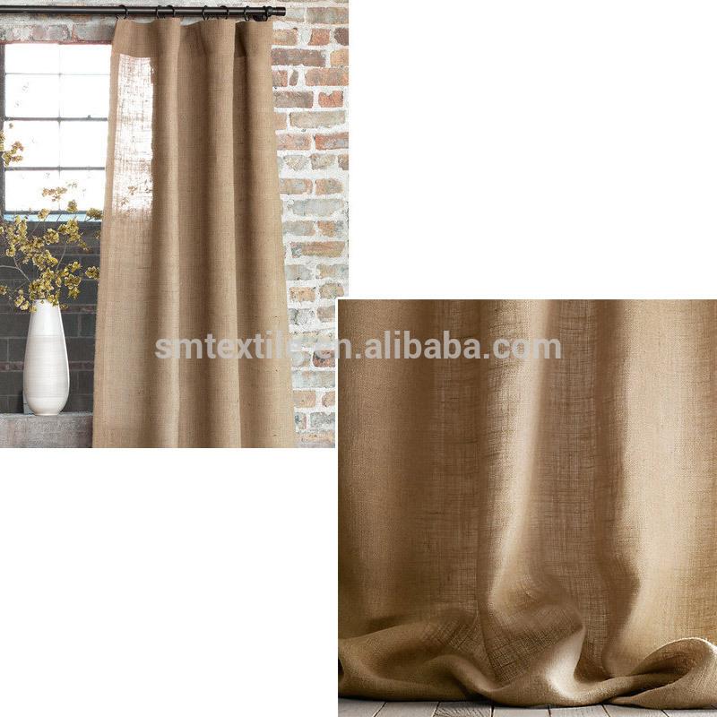 Buena calidad elegante living room cortinas de arpillera - Cortinas de arpillera ...