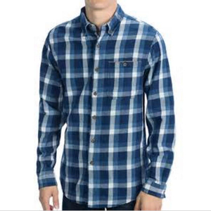 Cotton yarn dyed long sleeve mens plaid flannel shirt wholesale