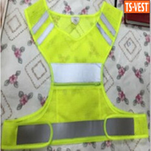 Wholesale EN20471 100%Polyester Yellow Mesh Safety Reflective Running Vest