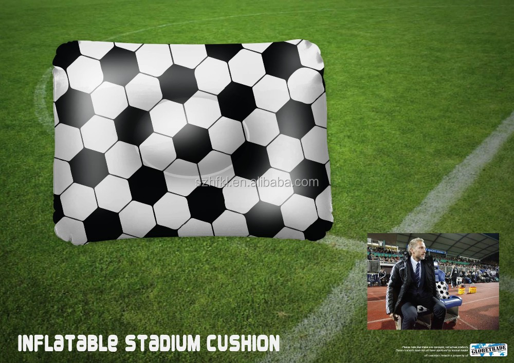 football design inflatable cushion for football game event