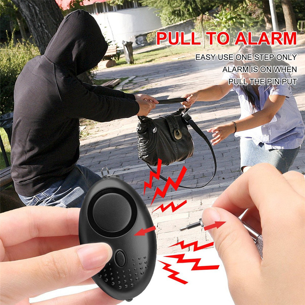 Portable Self Defense Alarm 140DB Emergency Protection Personal Safety Alarm KeyChain for Woman Children Elderly