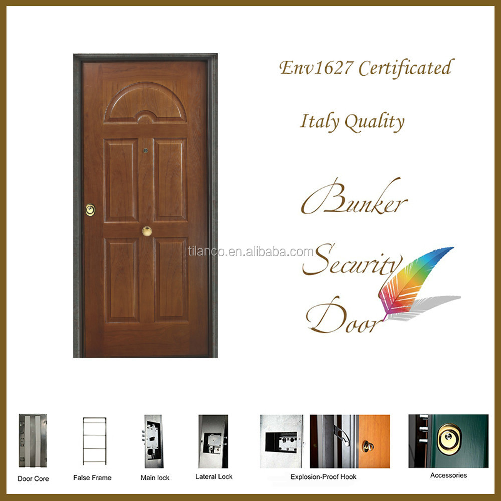Walnut color household wood security door