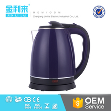 Superior big water cooling hotel electric purple tea kettle 12v