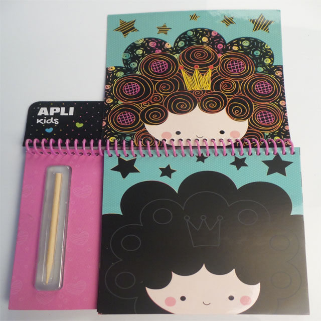 DIY Children scratch paper notebook
