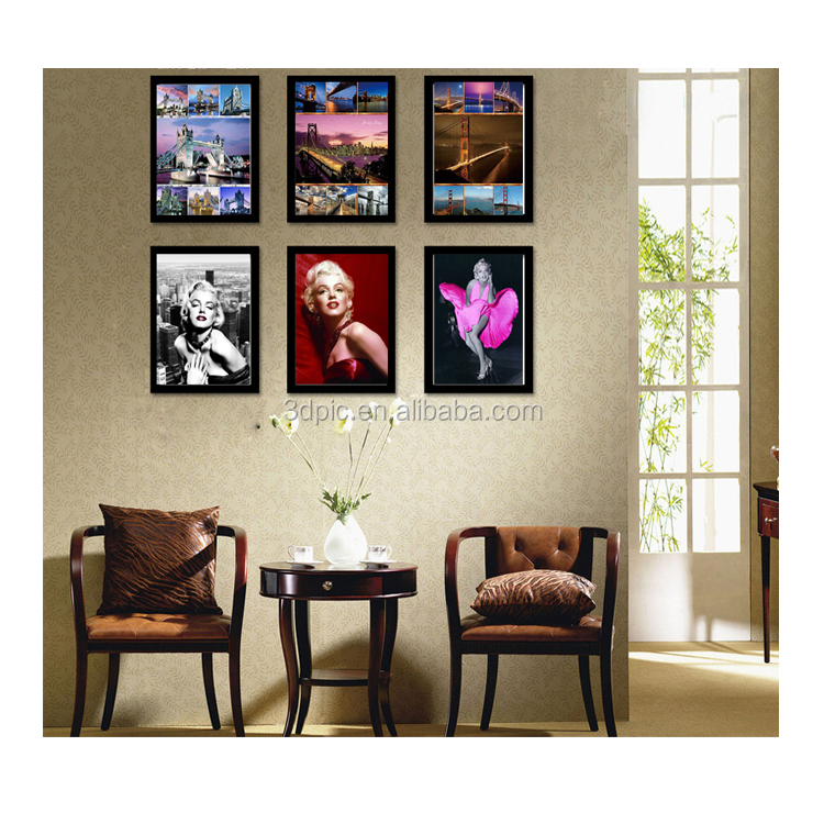hot sells 5d picture 3d lenticular pictures for home decoration