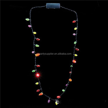 led flashing necklace lighting necklace christmas light up necklace