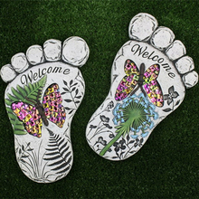Custom Decorative garden foot shape stepping stone