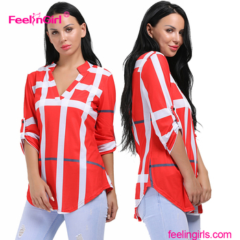 China Bulk Best Selling Ladies Blouse Plus Size Designs Latest