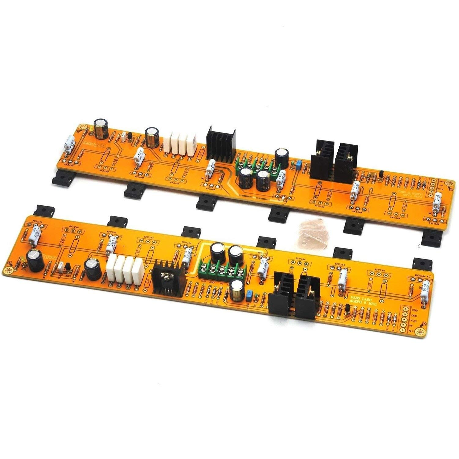1 Pair (Two Channel) Pass A5 Single-Ended Class A HiFi 60W+60W Amplifier Board IRF244 IRF9610
