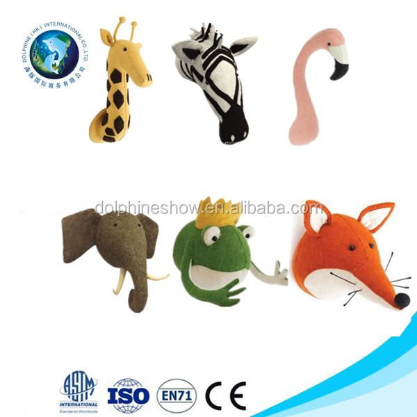 2017 nieuwe product 3d dier hoofd wandmontage opknoping voor huisdecoratie gevulde pluche dier - Afbeelding van huisdecoratie ...