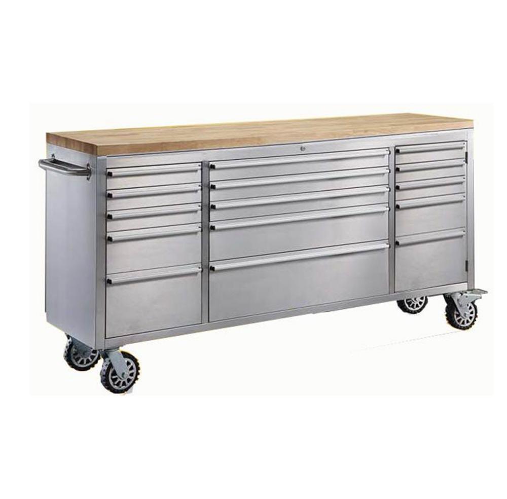 Heavy duty stainless steel workbench tool chest 72 inch tool chest  workbench with drawer ce9b18654b52