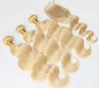 Wholesale Genuine Virgin Hair Extension High Light Jerry Extension With Closure of Blonde Human Hair