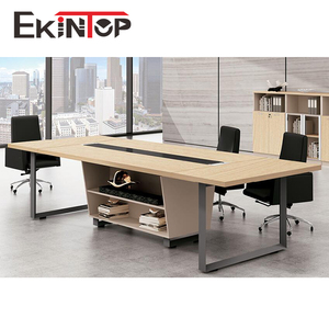 Foshan luxury modular home furniture round 20 person small wooden meeting room modern conference office table