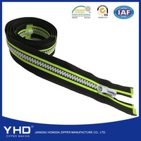 5# colorful tape open end plastic zipper for children jacket