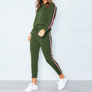 2 Piece Set Women Pink Long Sleeve Top And Pants Sets Apparel Casual Sweatshirt Lady Autumn Female Uniform Tracksuit Sport Wear