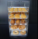 Manufacturer High-Quality Acrylic Pastry Container Bakery Donuts Cupcake Display Tray Rack Case with 5 Trays For Sales