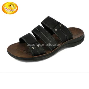 Hombre Zapatos Cuero PVC Verano Innovador / Zapatillas y chancletas Zapatillas y flip-flops Negro / Azul Oscuro hTHJm1