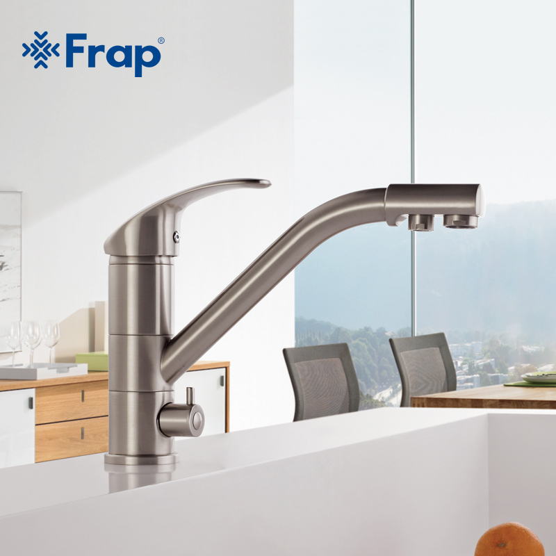 High End Brass Body Nickel Brushed Kitchen Faucet Sink