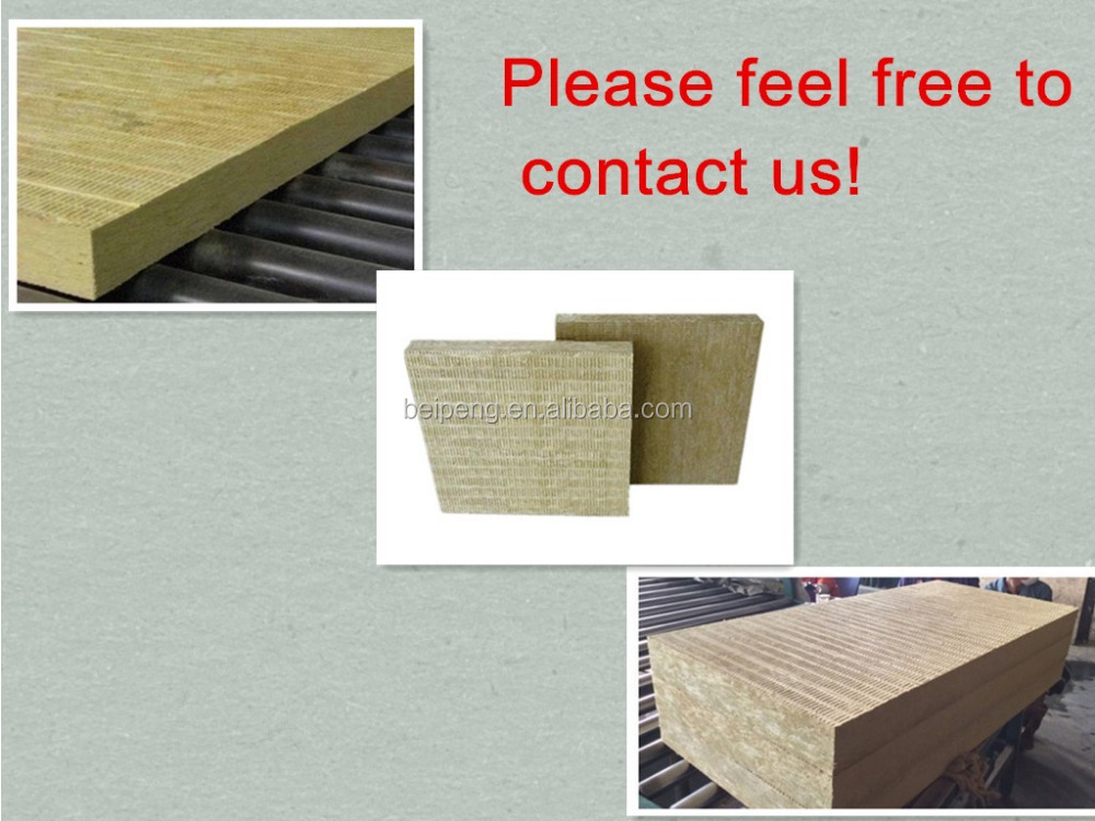 Wall Insulation Product : Mm external wall thermal insulation rock wool board