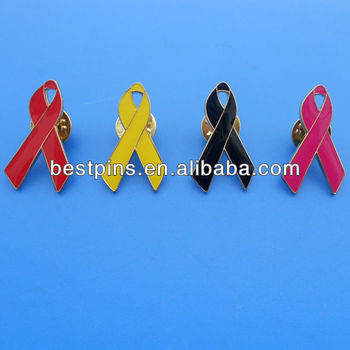 89e12777191 Current Mould Ribbon Heart Breast Cancer Awareness Pin Badge - Buy ...