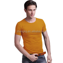 Popular o-neck pure color t-shirts wholesale for men