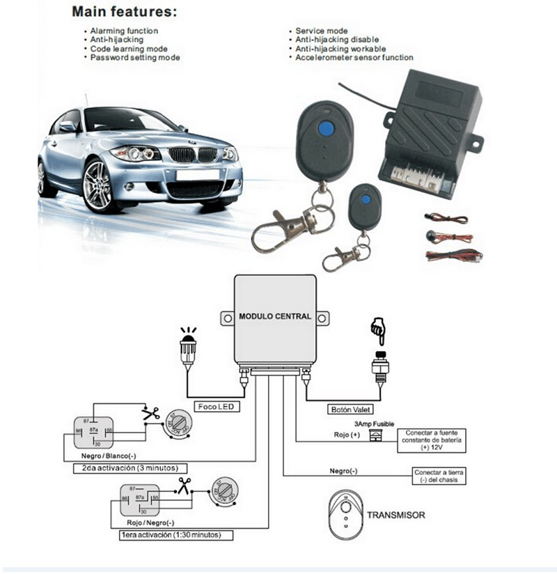 Anti-theft Security System Remote Control Rfid 433 92mhz Car Paralyzer Car  Immobilizer For South America And North America - Buy High Quality