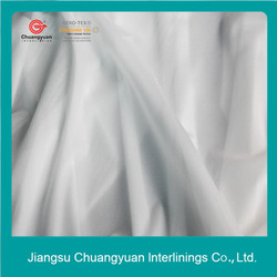 High quality 15D 100% polyester elastic woven fusible interlining