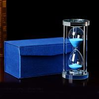 Crystal glass hourglass clock desktop office home furnishings for children gifts
