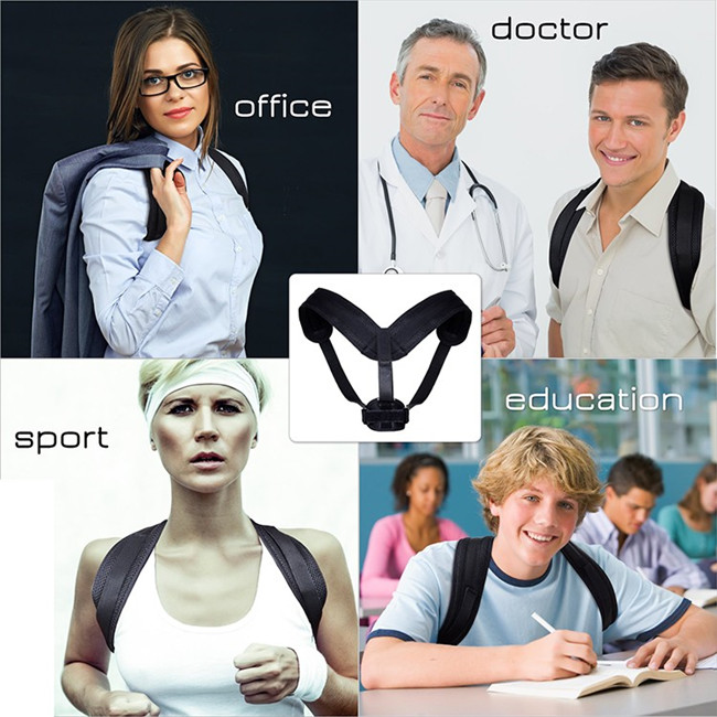 Unisex Adjustable Upper Back Shoulder Posture Corrector Brace Clavicle Brace with Private Logo