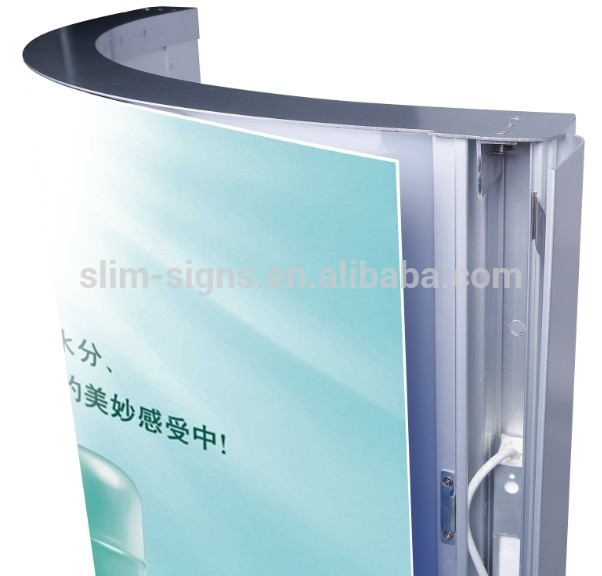 Curved snap frame led light box