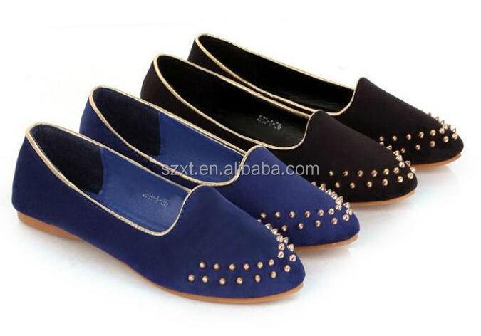Beautiful Spike Women Flat Shoes 2015 New Design Girls Slipper ...