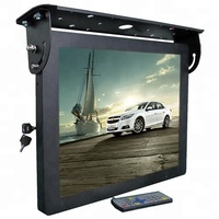 22 inch ceiling mounting auto lcd video monitor flip down display bus tv monitor