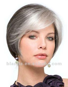 Grey Short Bob Style Hair Wig - Buy Brazilian