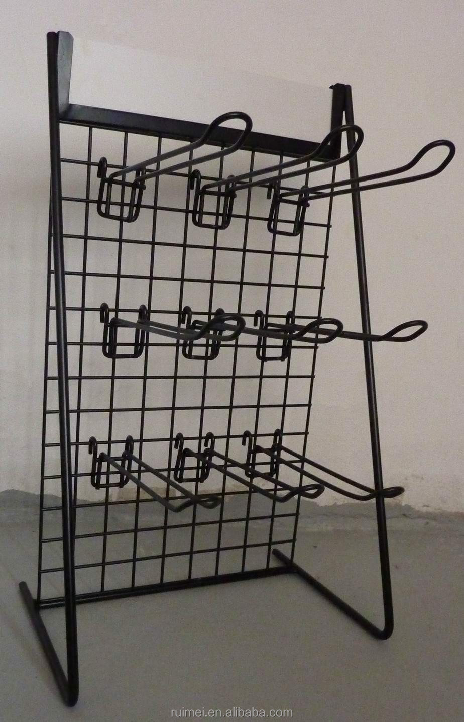 Countertop Metal Wire Gridwall Hook Slatwall Hook Mesh Display Rack