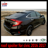 Roof luggage carrier spoiler for civic 2016 10th generation car ABS rear roof wing