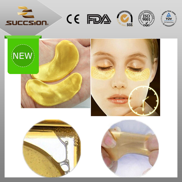 China wholesale anti ageing eye patch/pad circle clear gold eye mask