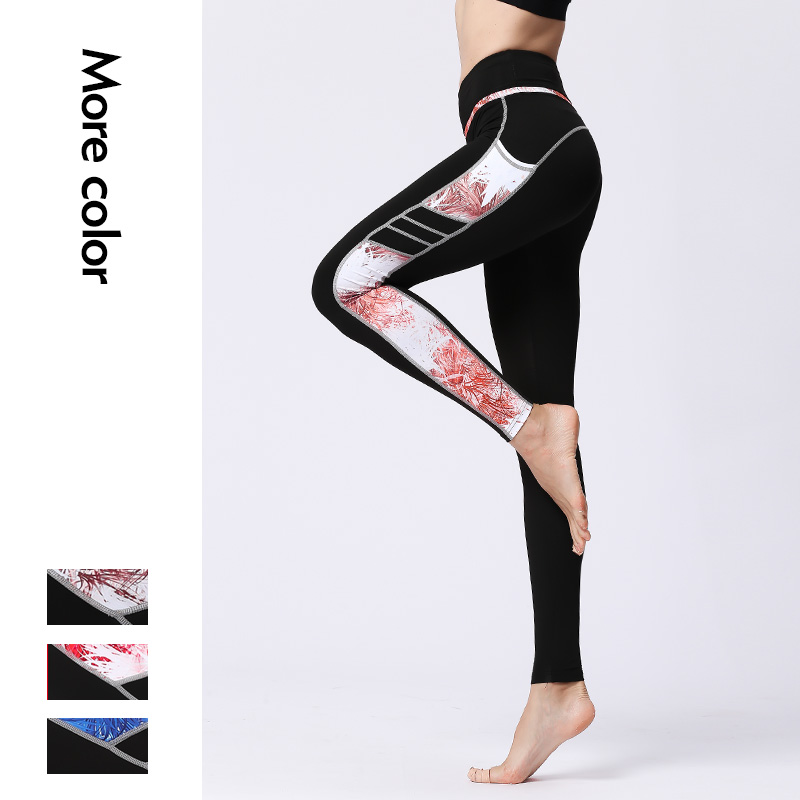 New jogging pants gym fashion milk leggings black printed custom legging fitness yoga wear