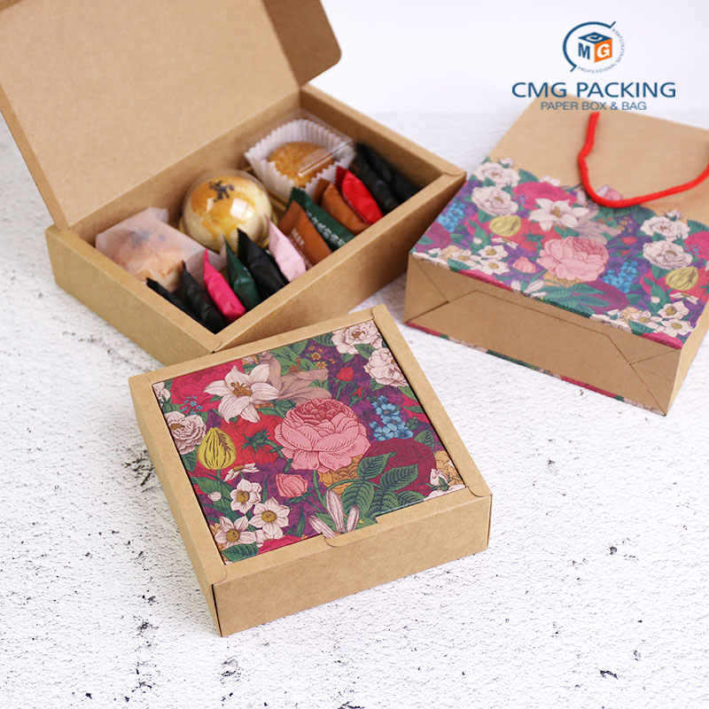 Wholesale 6 Capsules Cake Boxes and Packaging Fashion Design Gift Box Kraft Paper Packaging Boxes Baking Packaging