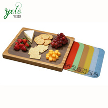 Easy to Clean Bamboo Cutting 보드 와 7 색-구분 된 유연한 Cutting Mats