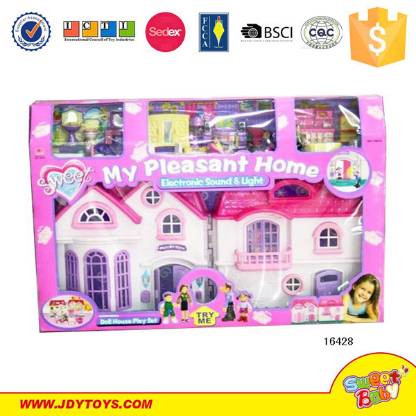 New push toy item! Free sample attractive plastic kids play tent house diy cottage set