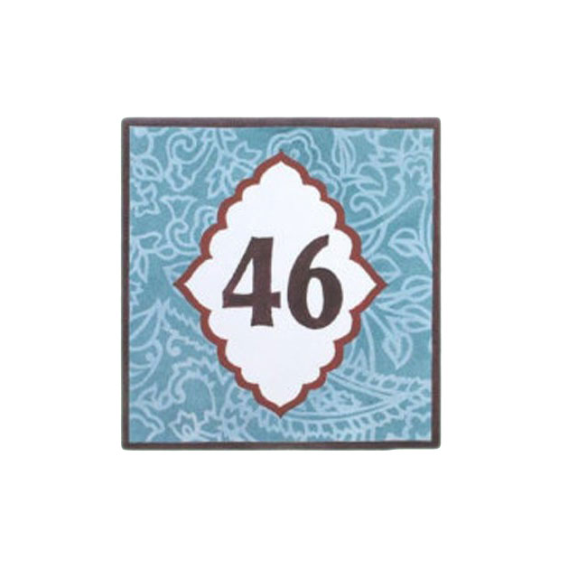 Hot Selling Square House Number Plate Painted Ceramic Tiles