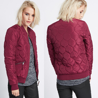 OEM New Fashion Laides Coat Wine Red Cotton Jackets For Women Winter