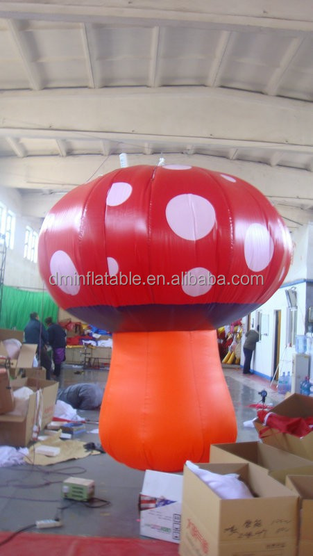 new design console type led giant inflatable mushroom