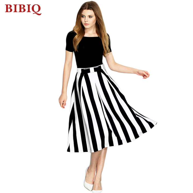 854fe7bde New Black And White Striped Short Sleeve Two Piece Casual Midi Dress ...