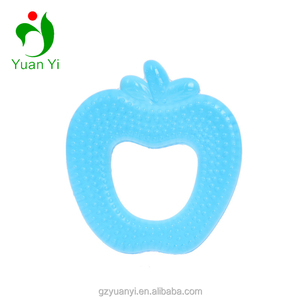 Food Grade Safe Silicone Teethers Apple Shape EVA Material Water Filled Baby Teether